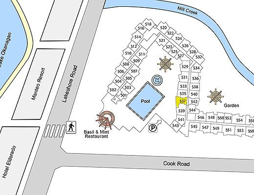 Playa del Sol #537 - 1 Bdrm + Den Pool Courtyard - Kelowna (CVH)