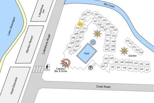 Playa del Sol 312 - 1 Bdrm + Den Lakeside and Pool Level - Kelowna (CVH)
